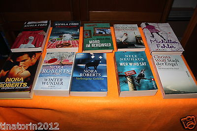 10 x Krimi  Büchersammlung Bücherpaket Taschenbücher und gebundene Bücher
