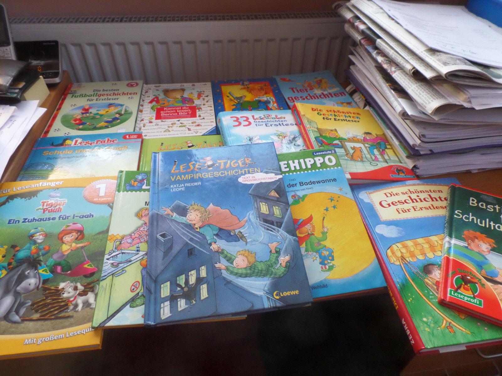 Paket Kinder Bücher Lesetiger Lesepiraten Lesehippo Lesestufe 1/2 14 Bücher