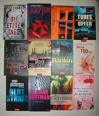 Bücherpaket 12 Stück  KRIMIS & THRILLER