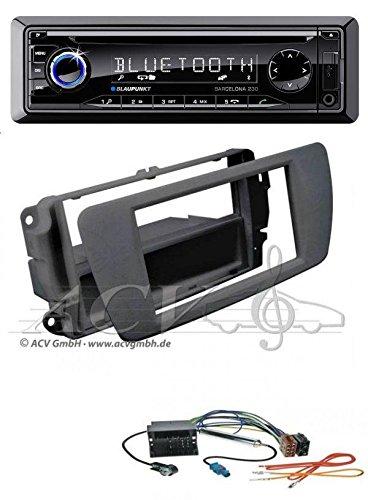 Blaupunkt Barcelona 230 CD MP3 USB SD Bluetooth AUX Autoradio für Seat Ibiza (6J ab 2008) nitschwarz AN1