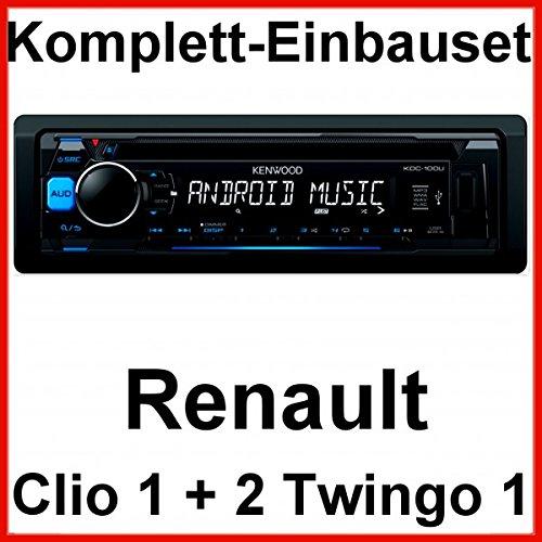 Komplett-Set Renault Clio 1 2 Twingo 1 Kenwood KDC-100UB USB CD Autoradio MP3