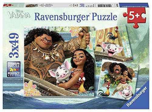 Ravensburger Puzzle 08004 - Vaianas Entdeckungsreise, 3x 49-teilig