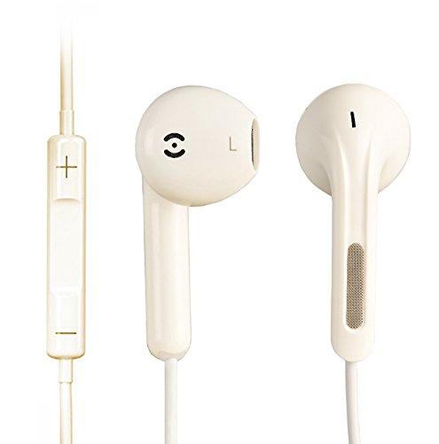 iProtect® Premium Kopfhörer in Ear in weiß - Headset für alle Modelle wie z.B. Sony, Samsung, LG, Huawei, HTC, uvm.   Sport Kopfhörer   Ohrhörer