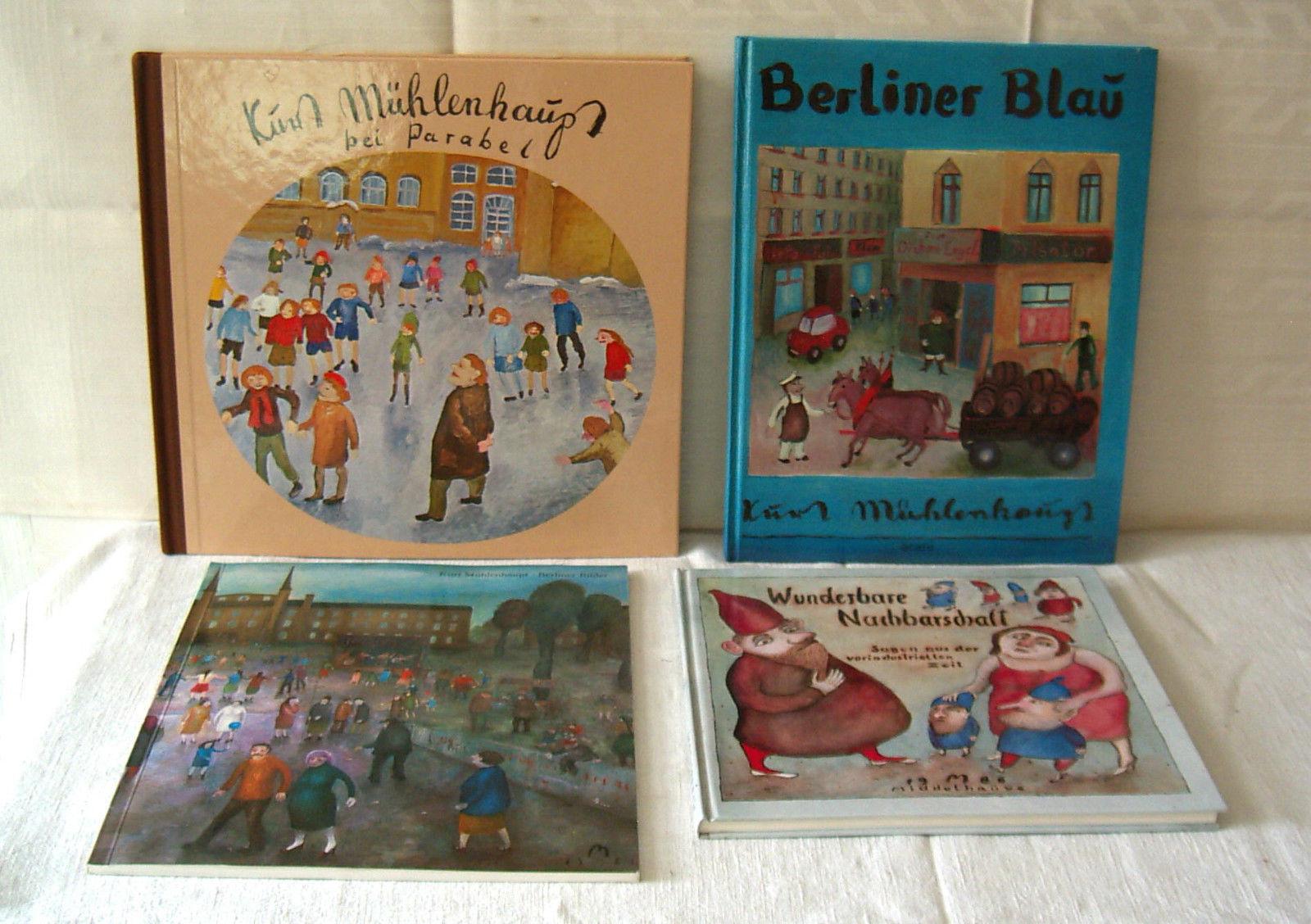 Sammlung/Konvolut 3 Bücher +1 Katalog von Kurt Mühlenhaupt, 1 sign.+1 nummer.