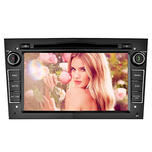 YINUO 7 Zoll 2 Din Touchscreen In Dash Autoradio Moniceiver DVD Player GPS Navigation für Opel Vauxhall Astra (2004-2009)/ Antara (2006-2011)/ Vectra (2005-2008) / Corsa (2006-2010) / Zafira (2006-2010) / Meriva (2006-2008) / Vivaro (2006-2010), Schwarz