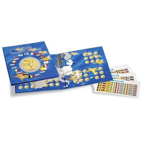 LEUCHTTURM Münzalbum Presso   Sammelalbum für 2-Euro-Münzen   Für bis zu 57 Münzen   Inkl. Flaggen Stickerset