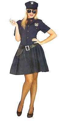 Polizistin Kostüm Karneval Fasching Verkleidung Kleid Uniform Polizei S-M-L