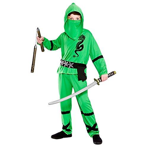 Green Power Ninja - Kids Costume 8 - 10 years