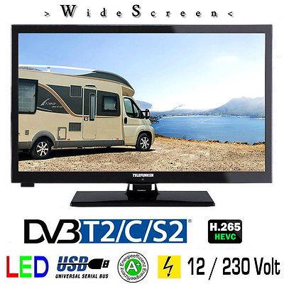 Telefunken L24H27K4V LED TV Fernseher 24 Zoll DVB/S/S2/T2/C 12Volt + 230 Volt