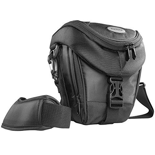 Mantona Colt Kameratasche (Universaltasche inkl. Schnellzugriff, Staubschutz, Tragegurt und Zubehörfach, geeignet für DSLR- und Systemkameras) schwarz