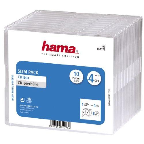Hama CD-Slim-Pack 4, 10er-Pack