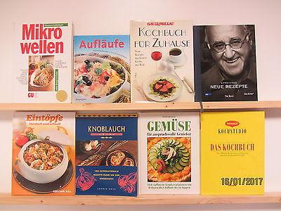 32 Bücher Kochbücher nationale und internationale Küche großformatig Paket 1