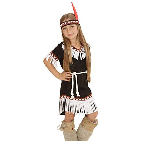 Widmann 06694 - Kinderkostüm Indianerin, Kleid, Gürtel und Stirnband