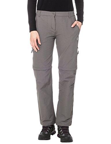 Ultrasport Damen Trekkinghose On Trail Longer Version, Grau, XS