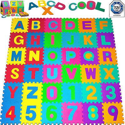 monzana® Puzzlematte 86tlg Kinderteppich Spielmatte Spielteppich Schutzmatte