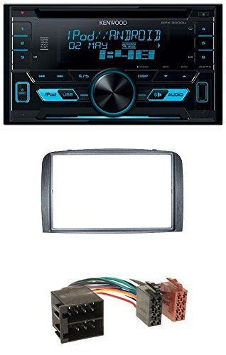 Kenwood DPX-3000U CD MP3 USB AUX 2-DIN Autoradio für Alfa Romeo 147 2000-2010 GT 2004-2010 anthrazit