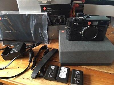 Leica M9 Gehäuse Body schwarz 10704 Topzustand