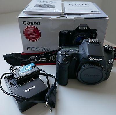 Canon EOS 70 D  Body 20.2 MP SLR-Digitalkamera Schwarz 1. Hand top Zustand