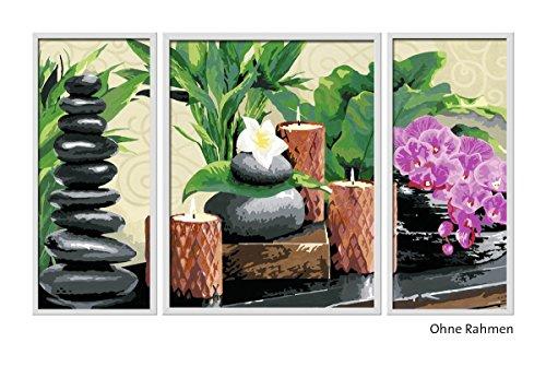 Ravensburger Malen nach Zahlen 28978 - Wellness Triptychon, 80 x 50 cm