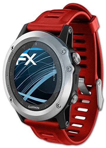 3 x atFoliX Displayschutzfolie Garmin Fenix 3 / 3 HR Schutzfolie - FX-Clear kristallklar