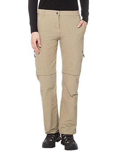 Ultrasport Damen Trekkinghose On Trail Longer Version, Beige, S