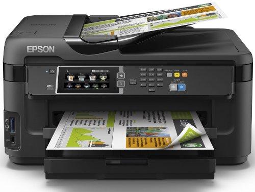Epson WorkForce WF-7610DWF 4-in-1 Multifunktionsdrucker (Drucken, scannen, kopieren, faxen, Duplex, WiFi, A3+, Dokumenteneinzug) schwarz