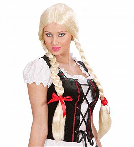 Perücke Blond Gretel mit Zöpfen