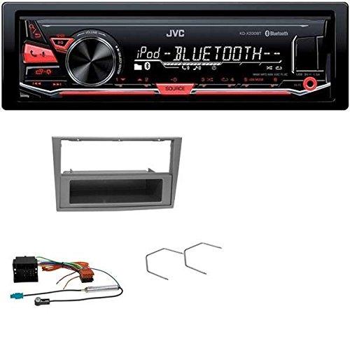 JVC KD-X330BT MP3 USB Bluetooth AUX Autoradio für Opel Astra H Corsa D Zafira B matt-chrom
