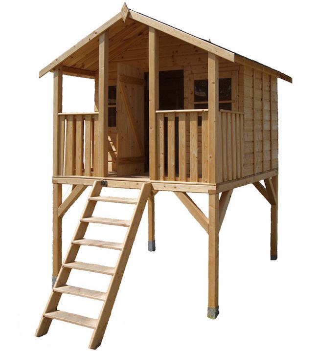 Stelzenhaus Tobi - XXL Holz Spielhaus Baumhaus Kinderspielhaus Gartenhaus Toby