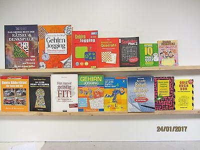 31 Bücher Rätselbücher Rätselhefte Sudoku Gehirnjogging Bilderrätsel Quiz