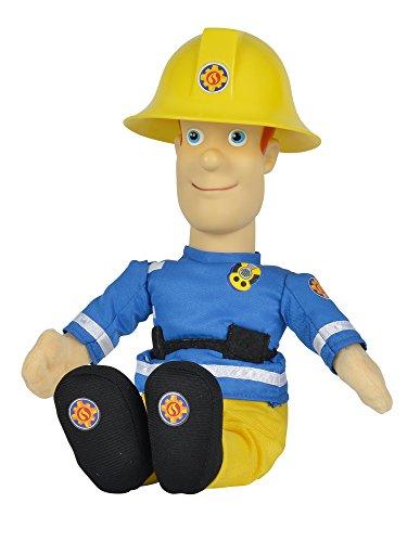 Simba 109258288 - Feuerwehrmann Sam sprechende Plüschfigur 30cm