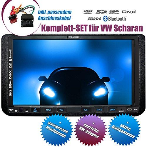 2DIN Autoradio CREATONE CTN-9268D56 für VW Sharan (ab 2010) mit GPS Navigation, Bluetooth, Touchscreen, DVD-Player und USB/SD-Funktion