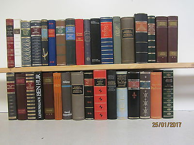 33 Bücher Romane Klassiker der Weltliteratur  Lederbuchrücken