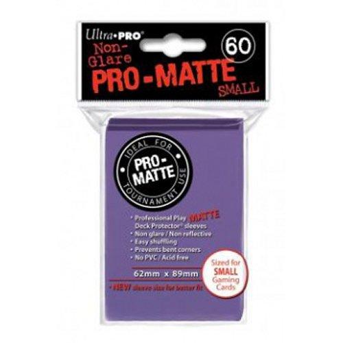 60 Ultra Pro Deck Protector - Pro-Matte Pro-Matte Purple - Small Mini Size Sleeves - Kartenhüllen Lila - Yu-Gi-Oh!
