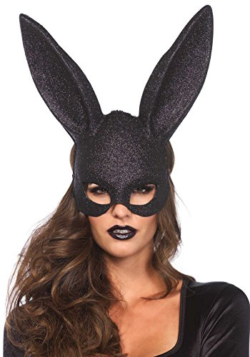 Leg Avenue 3760 - Glitter Maskerade Kaninchen-Maske - Einheitsgröße, schwarz