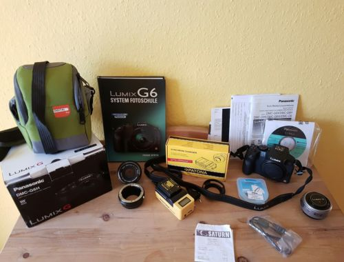 Panasonic Lumix G6 Systemkamera Komplettpaket + 2 Objektive + GARANTIE