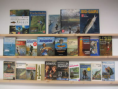 24 Bücher Angeln Fischen Fische fangen Angelgründe Angelgebiete Fliegenfischen