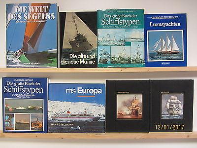 23 Bücher Schiffe Schifffahrt Segeln Schiffstypen Yachten Kriegsschiffe Marine