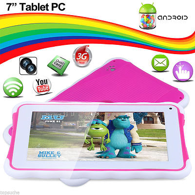 7 ZOLL ANDROID 4.4 QUADCORE 3G+WIFI DUAL KAMERA KINDER TABLET PC PAD 1024*600 BT