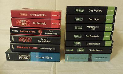 Bücherpaket Sammlung Andreas Franz*13 Bücher*Romane*Krimi*Krimis*