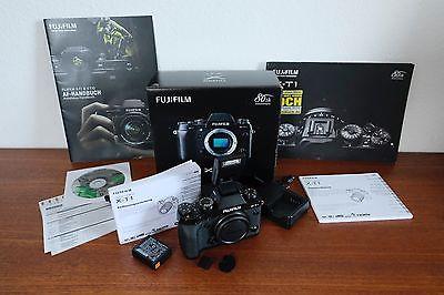 Fuji Fujifilm X-T1 16.3MP - Schwarz (Gehäuse mit OVP) Garantie bis Juni 2017