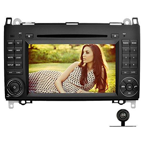 YINUO 7 Zoll 2 Din Touchscreen In Dash Autoradio Moniceiver DVD Player GPS Navigation für Mercedes-Benz A-class W169 (2004-2012)/ Mercedes-Benz B-class W245 (2004-2012) / Mercedes-Benz Viano/Vito(W639) (2006-2014)/ Mercedes-Benz Sprinter W906/W209/W311/W3