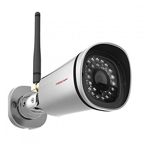 Foscam FI9900P IP Kamera, 1080P FHD IP-Kamera, 2.0 Megapixel mit 20m Nachtsicht, Überwachungskamera mit Zoomfunktion, mehr Sicherheit, Outdoor Überwachungskamera. IP66. wasserdicht