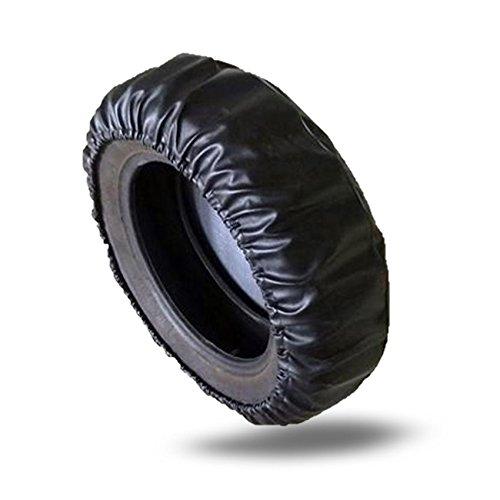 Teamyy Reifentaschen 15 Zoll Sitz für Durchmesser 70 ~ 75cm Reifentaschen Leatherette Schwarz