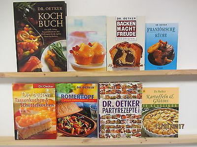 55 Bücher Kochbücher Dr. Oetker nationale und internationale Küche