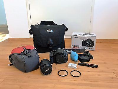 Canon EOS 600D 18.0 MP Spiegelreflexkamera mit EF-S 18-55 IS II Kit