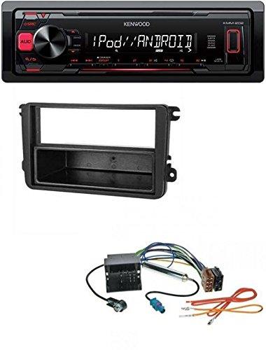 Kenwood KMM-202 MP3 USB AUX Autoradio für VW Caddy ab 2003 Golf V VI ab 2003 Jetta ab 2005