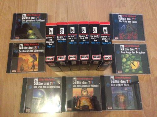 große Sammlung die drei ??? die drei Fragezeichen 25 CDs Hörspiel