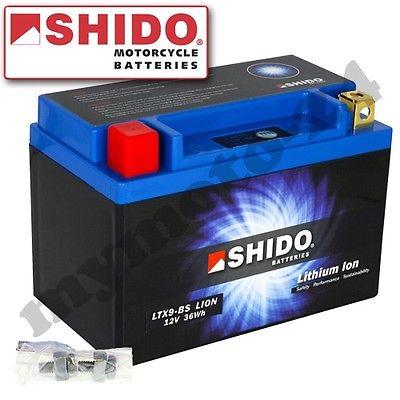 Batterie Shido Lithium LTX9-BS YTX9-BS, 12V/8AH (Maße: 150x87x105)