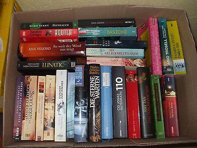 Bücherpaket groß XXL Krimi Thriller Romane gemischt